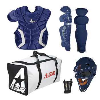AllStar Players Series Youth Baseball Catchers Kit - Navy