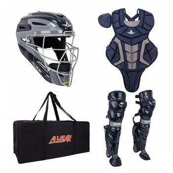 AllStar System 7 Axis Youth Baseball Catchers Kit - Navy