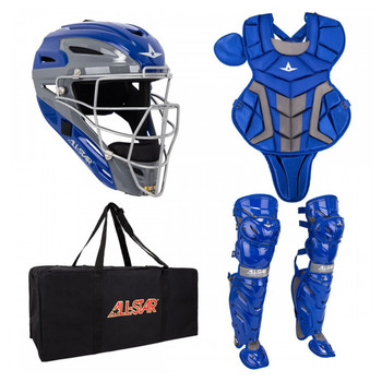 AllStar System 7 Axis Youth Baseball Catchers Kit - Royal