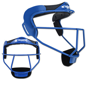 Champro The Grill Softball Fielders Mask Adult - Royal