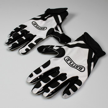 Battle Ultra Stick Football Senior Receiver Gloves - Black, White