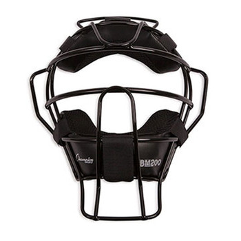 Champion Ultra Light Adult Umpire Mask - Black
