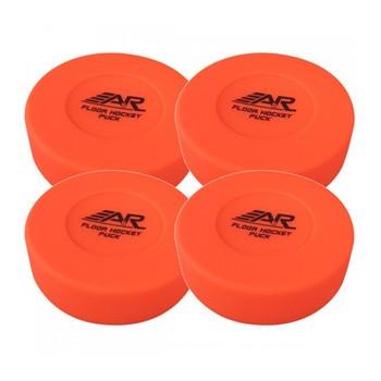 A&R Floor Hockey Pucks - 4 Pack