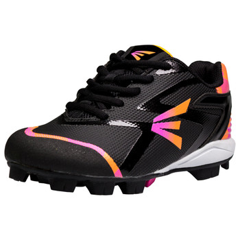 Easton Prowess Missy Youth Baseball Cleats - Black, Pink, Orange