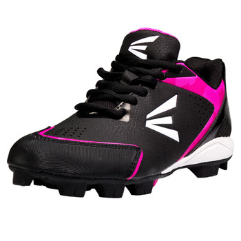 Easton 360 Instinct Missy Youth Baseball Cleats - Black, White, Pink