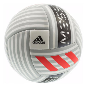 Adidas Messi Glider Soccer Ball BQ1369 - White, Gray, Red