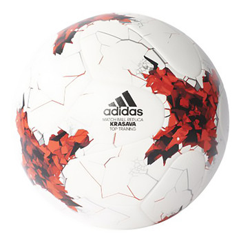 Adidas Confed Cup Replique Soccer Ball AZ3201 - White, Red, Black