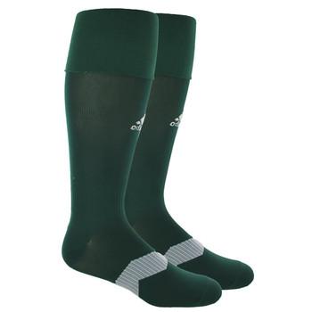 Adidas Metro IV OTC Soccer Socks - Green/White/Clear Grey