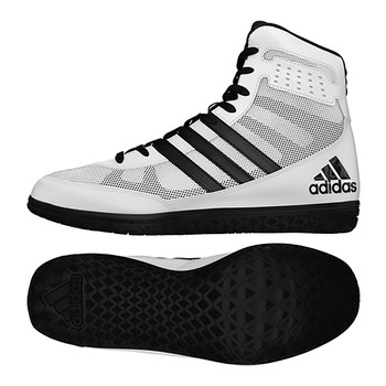 Adidas Mat Wizard 3 Youth Wrestling Shoes CM7180 - White, Black