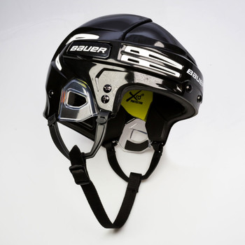 Bauer Hockey Re-AKT 75 Senior Hockey Helmet - Black with White Vents