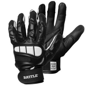 Battle Football Adult Lineman Gloves - Black, White