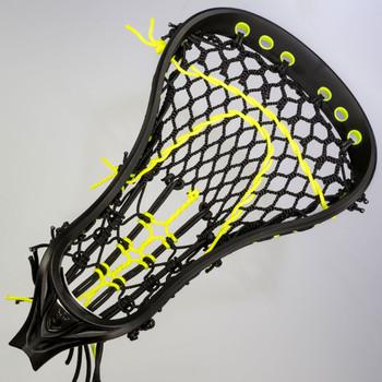 Brine Mantra 3 Custom Strung Women's Lacrosse Head - Black, Yellow