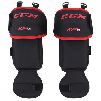 CCM Hockey Goalie 1.5 Knee Protectors - Black, Red