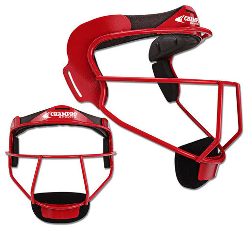 Champro The Grill Softball Fielders Mask Adult - Scarlet