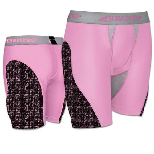 Champro Line-Drive Womens Softball Sliding Short - Pink