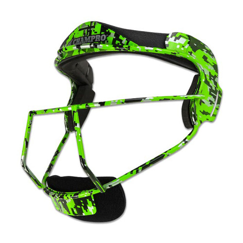 Champro The Grill Softball Fielders Mask Youth - Green Camo