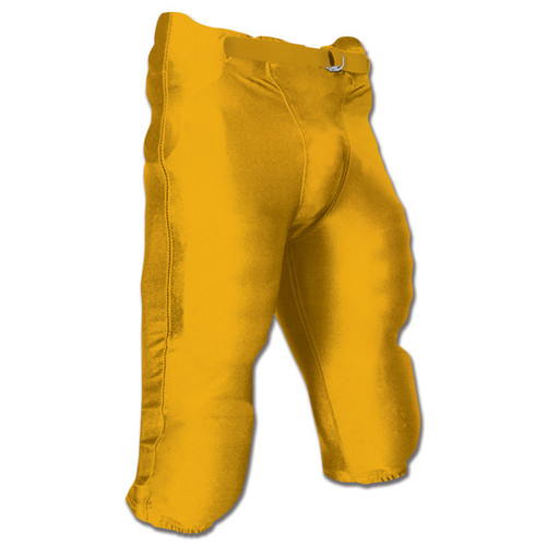 Champro Terminator Youth Football Pant with Pads - Gold