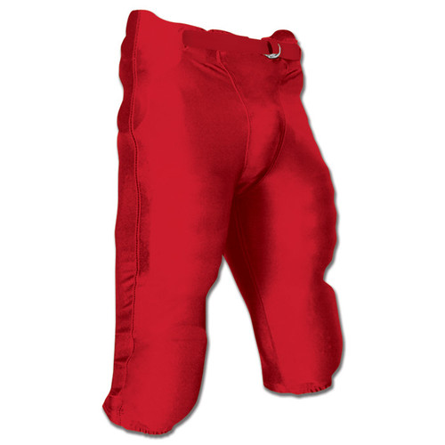 Champro Terminator Senior Football Pant with Pads - Red