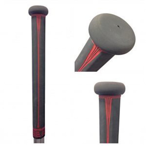 Buttendz Paradox Lacrosse Stick Grip - Gray and Fire Drip