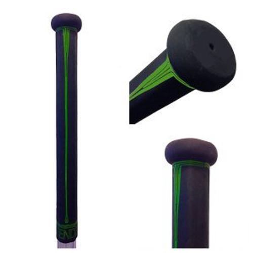 Buttendz Paradox Lacrosse Stick Grip - Black and Green Drip