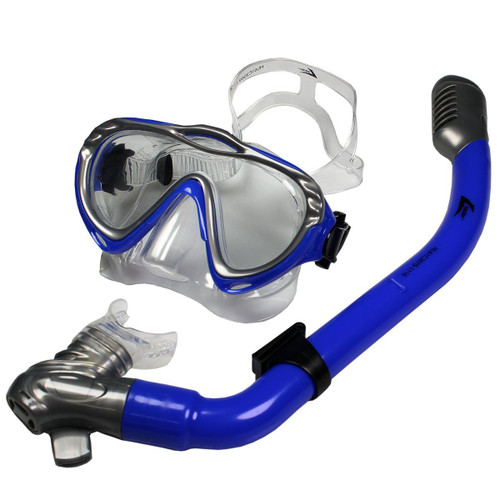 Leader Majorca Junior Mask and Snorkel Combo - Blue
