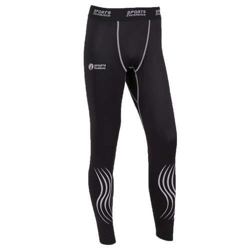 Sports Excellence Hockey SMU Compression Junior Jock Pant-Black, Grey