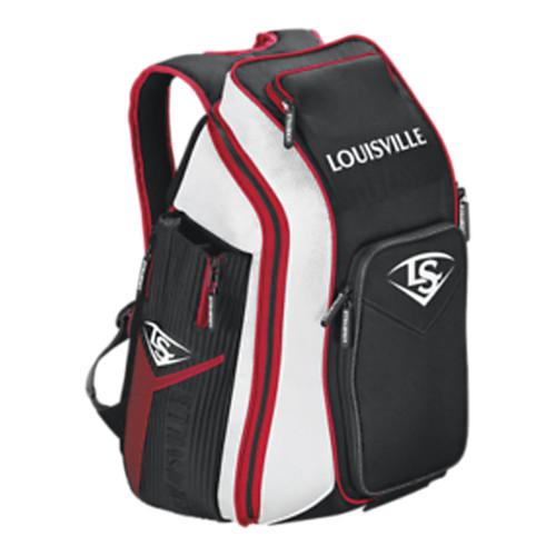 Louisville Slugger Prime Stick Pack Baseball Backpack - Black, Scarlet