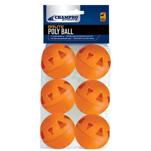 "Champro Brute Poly 9"" Baseballs - 6 Pack"