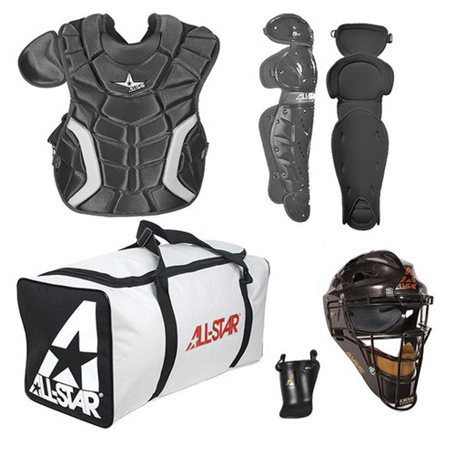 AllStar Players Series Youth Baseball Catchers Kit - Black