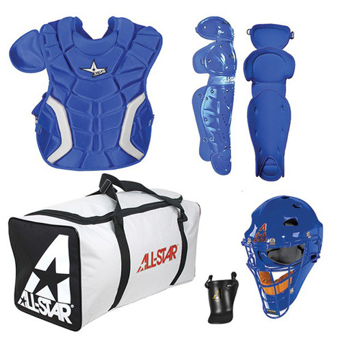 AllStar Players Series Youth Baseball Catchers Kit - Royal