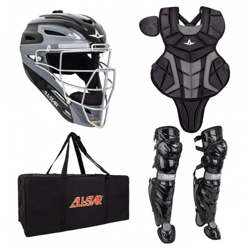 AllStar System 7 Axis Youth Baseball Catchers Kit - Black