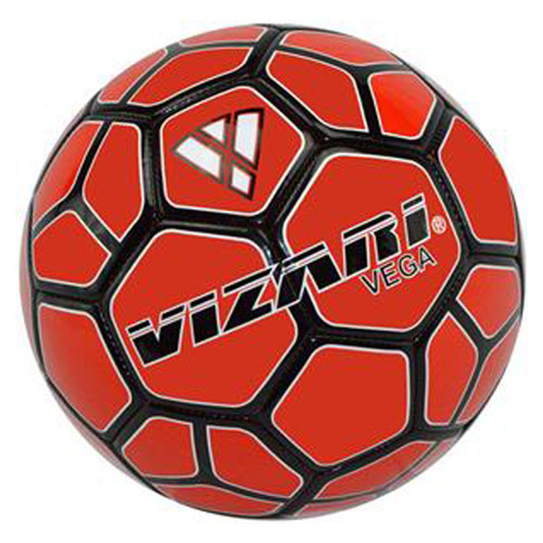 Vizari Vega Team Soccer Ball - Red/Black