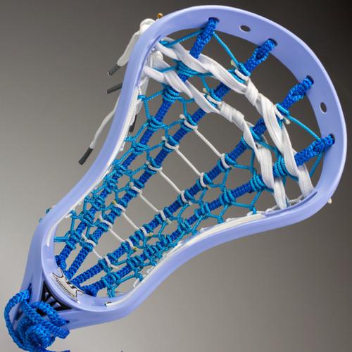 Warrior EVO 3X Custom Strung Lacrosse Head - Carolina, White