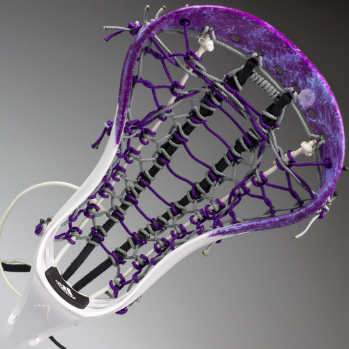 Adidas WH110 Custom Strung Lacrosse Head - Purple Marble, White