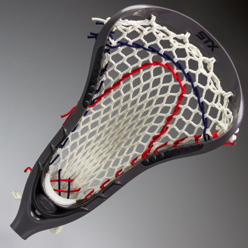 STX Attak Custom Strung Lacrosse Head - Grey