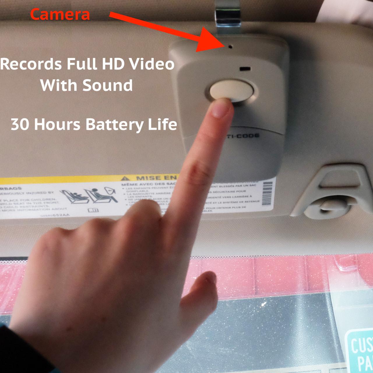 Garage Door Opener With Hidden Security Car Vehicle Full Hd Camera