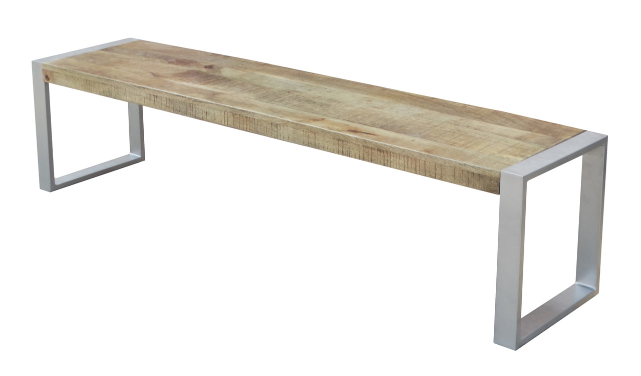 Well-known Reclaimed wood Bench with Silver Metal legs. - Timbergirl GZ21