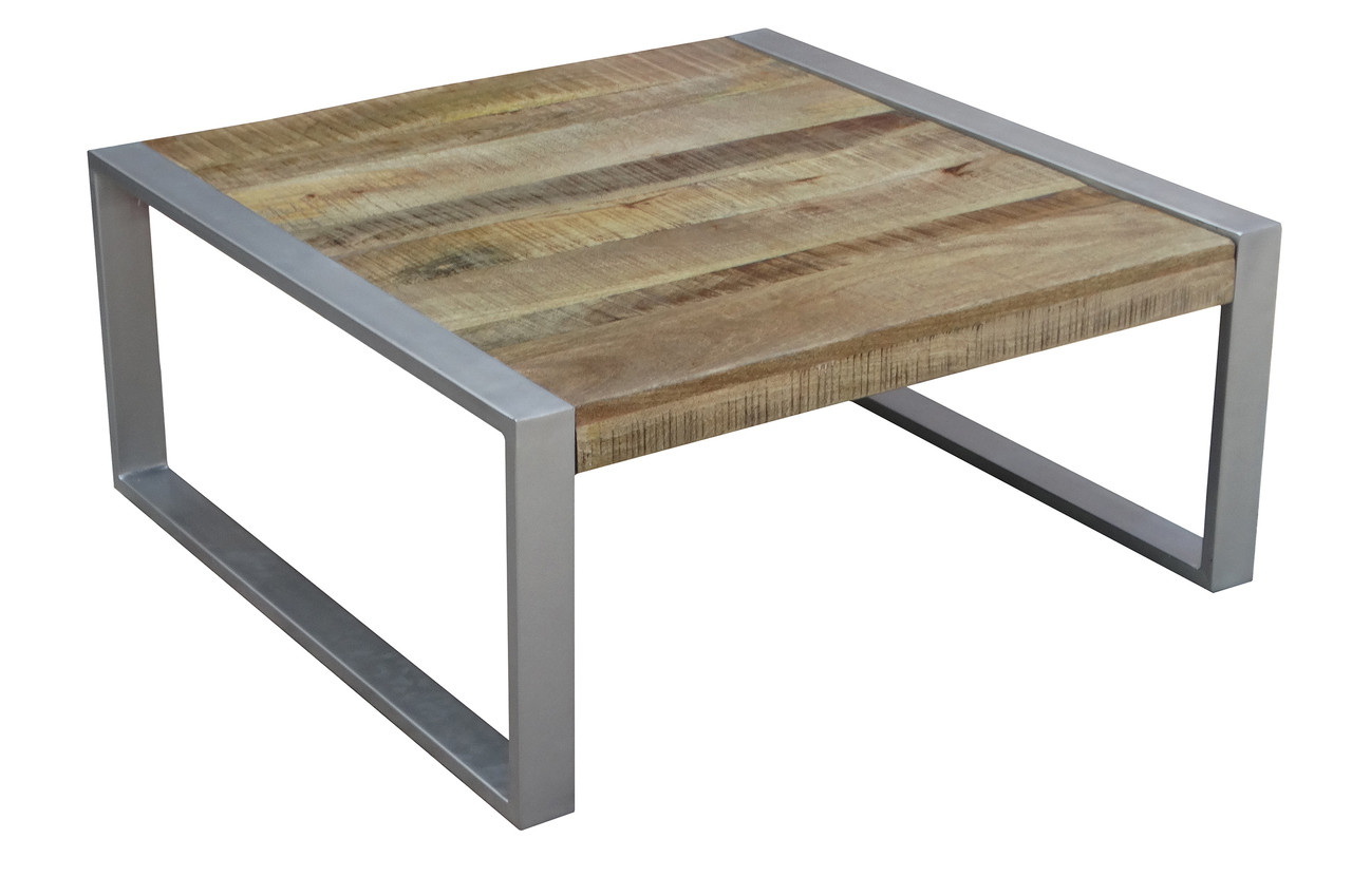 Timbergirl Reclaimed Wood Coffee Table With Silver Legs