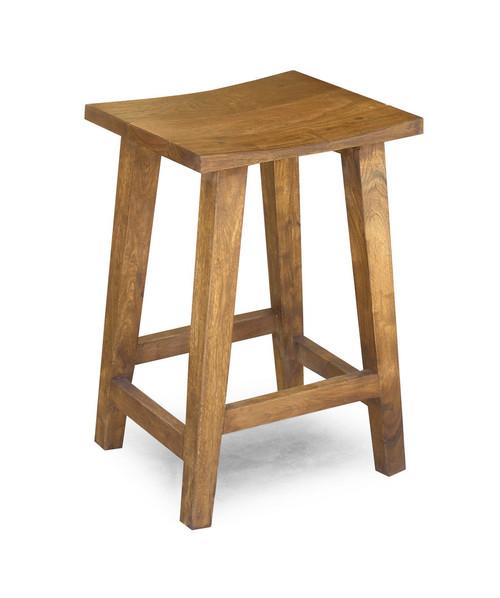 Solid Acacia Wood Counter Stool Medium Timbergirl