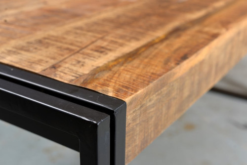 Reclaimed Mango Wood Dining Table With Metal Legs Timbergirl