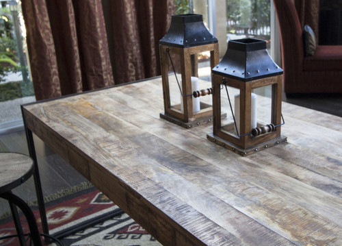 Reclaimed Mango Wood Dining Table with Metal Legs - Timbergirl
