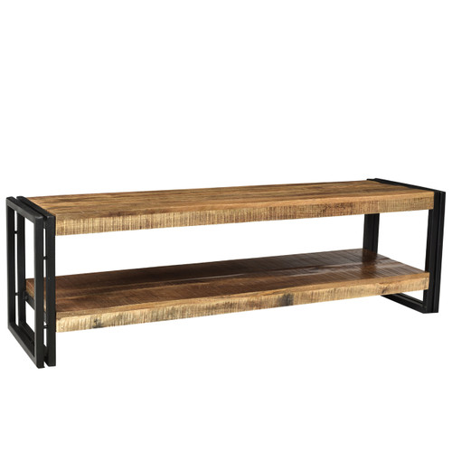 Timbergirl Handcrafted Reclaimed Wood And Metal Bench With