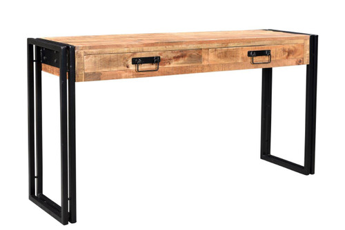Timbergirl reclaimed mango wood console table with metal legs reclaimed mango wood console table with metal legs aa1275 2 watchthetrailerfo