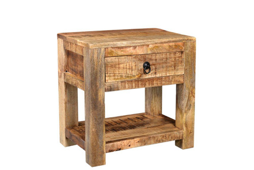 Timbergirl Surat Solid Wood Bedside Table ...