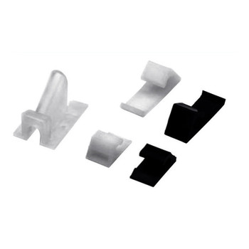 CC-954-CL Vertical Vinyl Siding Clip for RG-59/RG-6 (Clear)