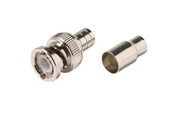 BNC Hex Crimp Connector 2pc RG6