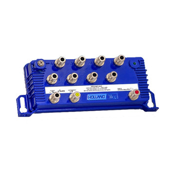 ProAmp-8PR 8 Port CATV Drop Amplifier with Passive Return