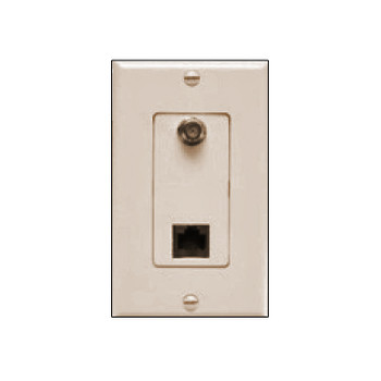 LTD Converter - FRJ Decora Almond Wallplate