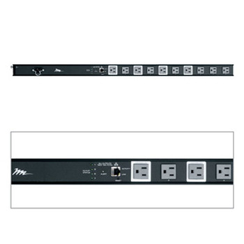 RLNK-1015V 15A 10 Outlet Low Profile IP Controlled Vertical Powerstrip w/ RackLink