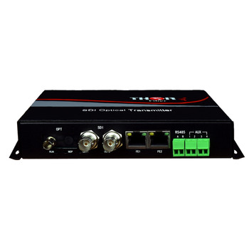1CH HD-SDI Transmitter with Two bi-directional 10/100 Ethernet ( 2 RJ45 Ports) 20km ST/PC